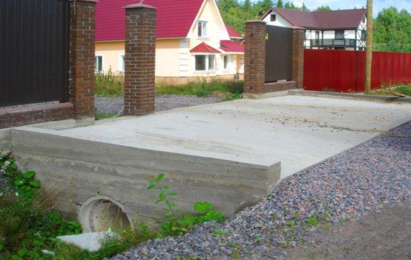 Капитальное строительство въезда на участок в Великом Новгороде