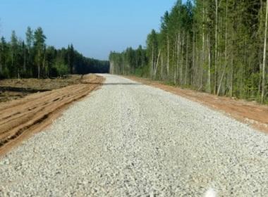 Строительство гравийной дороги в Великом Новгороде