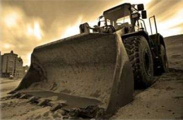 Большой ковш трактора